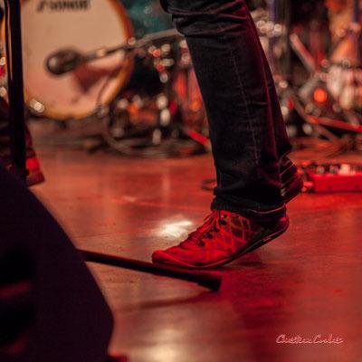 """""""Aller chercher la note"""" Alexandre Aguilera ; Robin & the Woods. Soirée Club JAZZ360, Cénac. Samedi 1er février 2020 ©Christian Coulais"""