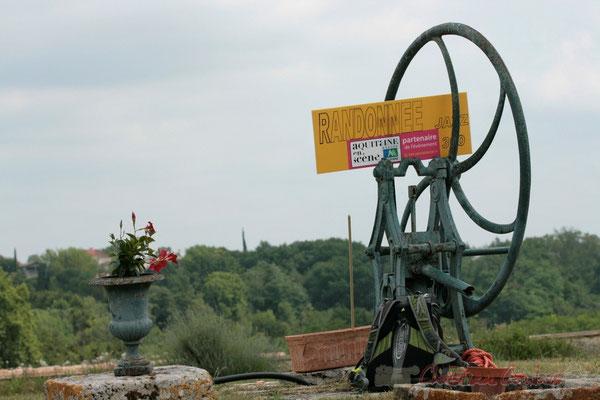 Roue du puits, Château Lestange, Quinsac. Festival JAZZ360 2011, 05/06/2011
