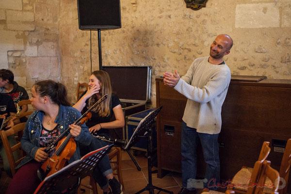 Rémi Poymiro et son Big Band Jazz du Collège Eléonore d'Aquitaine de Monségur. Festival JAZZ360 2016, 10/06/2016