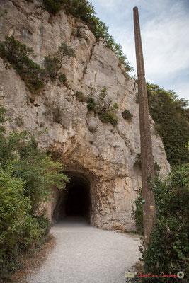 La Foz de Lumbier au sortir du premier tunnel  de 206 mètres