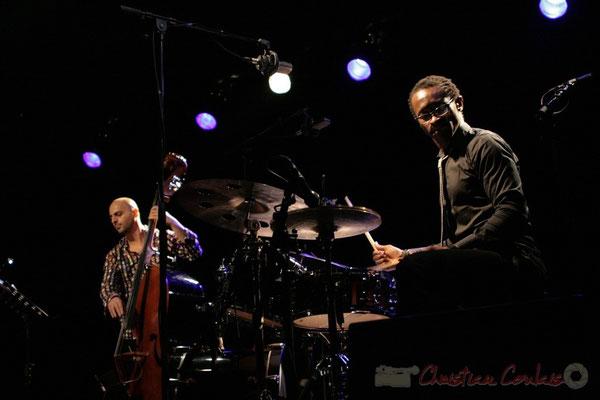 Mauro Gargano, Roger 'Kemp' Biwandu; Roger Biwandu Quintet, Festival JAZZ360 2011, Cénac. 03/06/2011