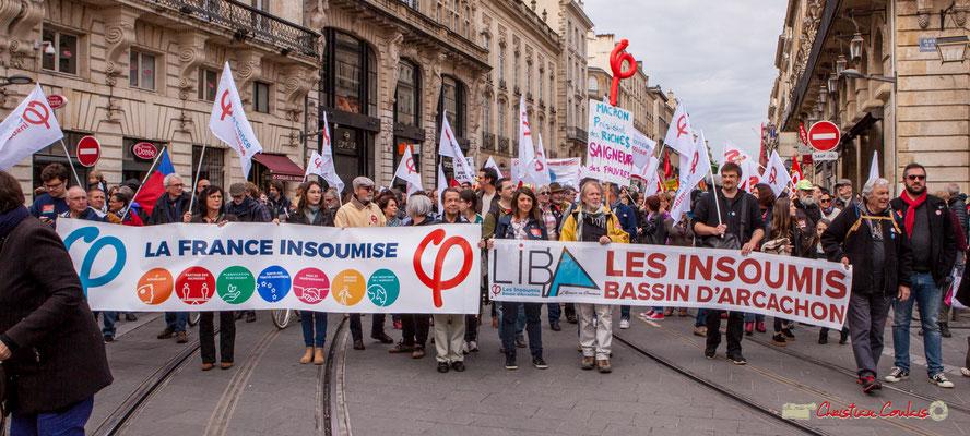 11h17 La France insoumise, toujours en bon ordre de marche, place de la Comédie, Bordeaux. 01/05/2018