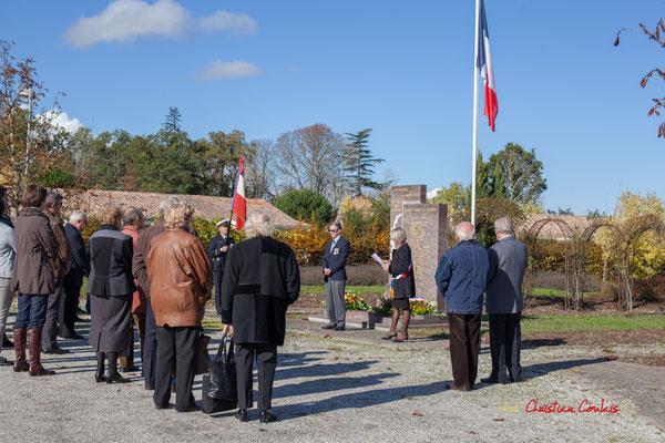 Hommages et commémoration de l'Armistice du 11 novembre 1918 à Cénac, ce dimanche 11 novembre 2012.