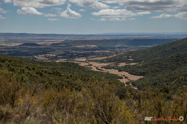Panorama entre Murillo el Fruto et Ujué, route de la crête / Panorama de Murillo el Fruto y Ujué, el camino de montaña