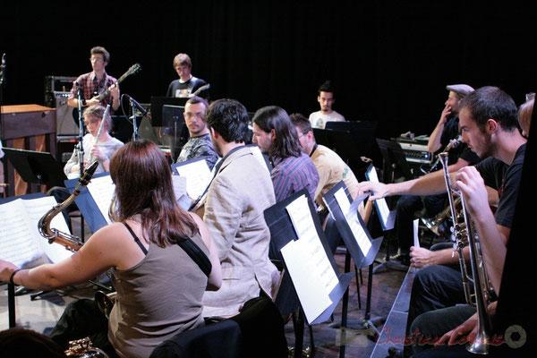 Répétition du Conservatoire Jacques Thibaud, section MMA. Festival JAZZ360 2011, Les coulisses du Festival à Cénac. 03/06/2011