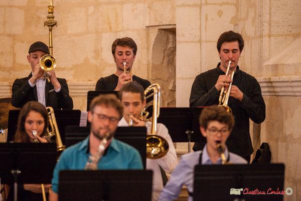 Robin Péret, Paolo Chatet, Andrea Glockner; Big Band Jazz du conservatoire de Bordeaux Jacques Thibaud. Festival JAZZ360 2018, Cénac. 09/06/2018