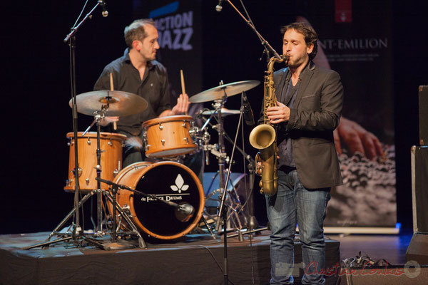 1 Lionel Ducasse, Paul Robert, quintet On Lee Way. Tremplin Action Jazz 2017. Le Rocher de Palmer, Cenon