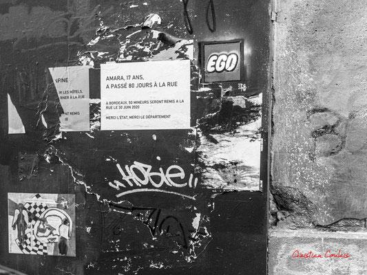 """""""égo / égoïste société"""" Quartier Saint-Michel, Bordeaux. Mercredi 24 juin 2020. Photographie © Christian Coulais"""