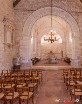 Nef non voutée de l'église Saint-André. Cénac, 28/04/2018