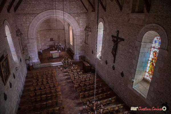 Nef de l'église Saint-André, depuis le balcon. Cénac, 11/05/2018