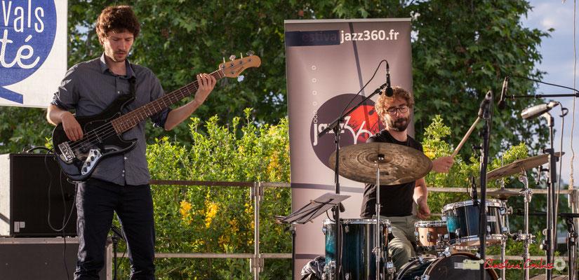 Gaspard Colin, Marton Kiss; Oggy & The Phonics. Festival JAZZ360 2018, Langoiran. 07/06/2018