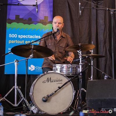 Valery Haumont; Gadjo & Co. Festival JAZZ360 2018, Camblanes-et-Meynac. 09/06/2018