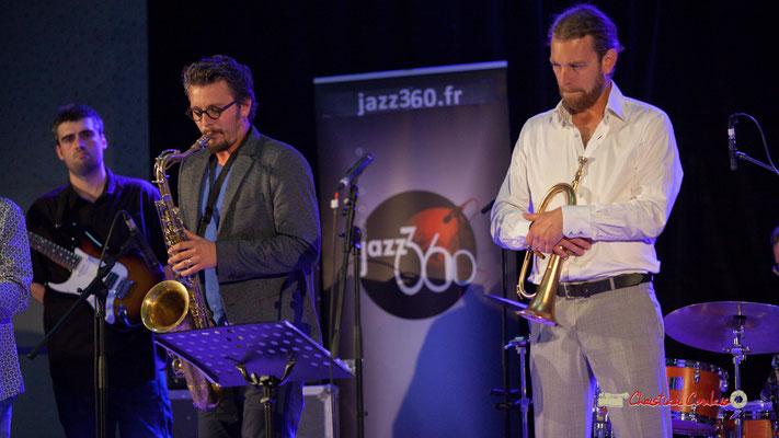Jean-François Valade, Valentin Foulon, Franck Vogler; Docteur Nietzsche fait son grand huit, Festival JAZZ360 2019, Saint-Caprais-de-Bordeaux. 05/06/2019