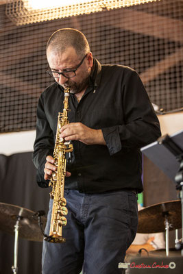 Alain Coyral; Serge Moulinier Quintet. Festival JAZZ360 2018, Camblanes-et-Meynac. 09/06/2018
