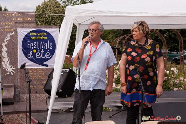 Richard Raducanu, Président de l'association JAZZ360 présente le programme de l'après-midi, avec Docteur Nietzsche Quartet. 08/06/2018