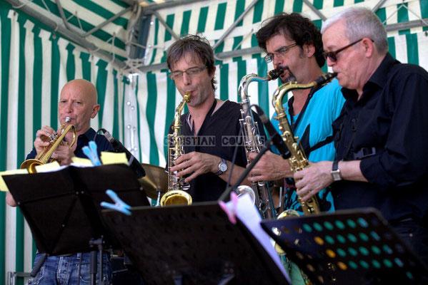 Festival JAZZ360 2014, Alain Duffort, Thierry Taveaux, Grat Martinez, Rémy Brown; Jazzméléon Trafic. Cénac, 07/06/2014