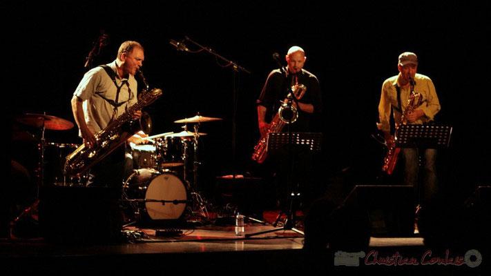 Francis Mounier, Guillaume Schmidt, Alain Coyral; Fédération Française de Baryton (FFB), Festival JAZZ360 2011, Cénac. 05/06/2011