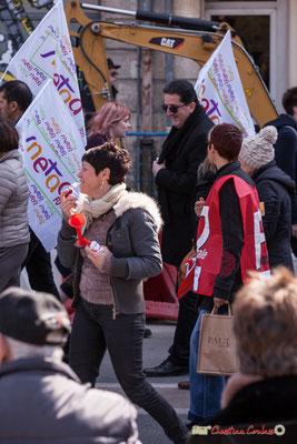 14h40 FO Syndicat National de l'Enseignement Technique-Action Autonome. Manifestation intersyndicale de la Fonction publique/cheminots/retraités/étudiants, place Gambetta, Bordeaux. 22/03/2018