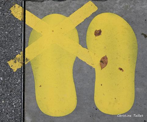 27 bis nuances de jaune. Bordeaux, samedi 5 décembre 2020. Photographie © Christine Teillet