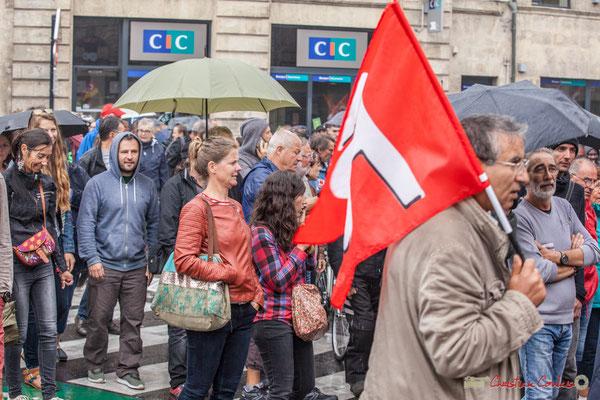 Manifestation intergénérationnelle contre la réforme du code du travail. Place Gambetta, Bordeaux, 12/09/2017