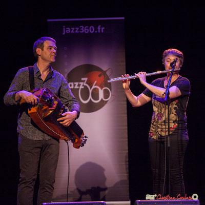 Gilles Chabanat, Anne Colas; Clax Quartet. Festival JAZZ360 2018, Cénac. 09/06/2018