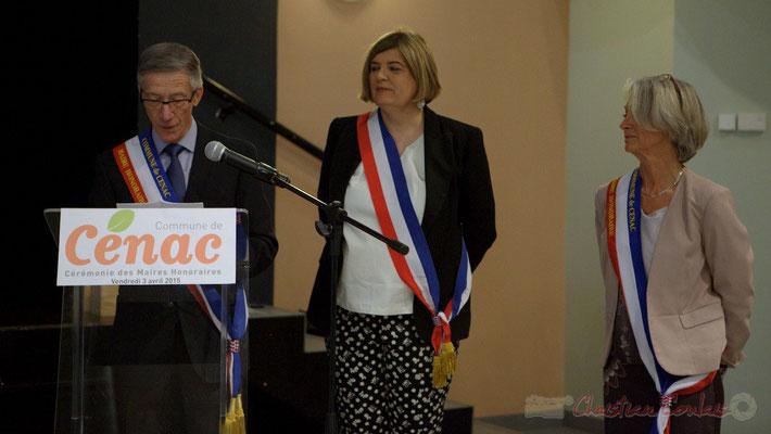 Gérard Pointet, Maire honoraire de Cénac. Honorariat de Simone Ferrer et Gérard Pointet, vendredi 3 avril 2015, Cénac