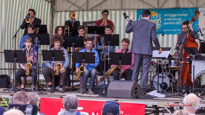 Big Band du Conservatoire Jacques Thibaud. Festival JAZZ360 2019, parc du château de Pomarède, Langoiran. 06/06/2019