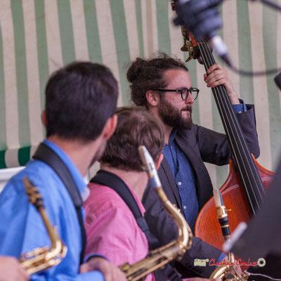 Louis Laville, Big Band du Conservatoire Jacques Thibaud. Festival JAZZ360 2019, parc du château de Pomarède, Langoiran. 06/06/2019
