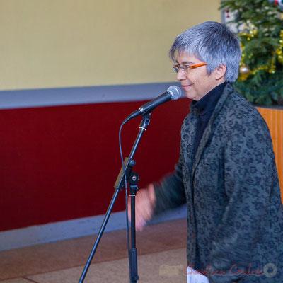 Nathalie Aubin, Maire de Haux, vœux aux administré-es le 14 janvier 2017