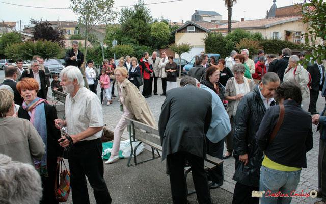 Plantation de l'Arbre de la Laïcité, place Camille Gourdon, Créon. Samedi 19 juin 2010