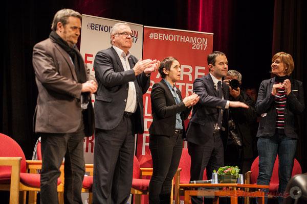 2 Pascal Lafargue, Jean-Marie Darmian, Naïma Charaï, Benoît Hamon, Andréa Kiss, Théâtre Fémina, Bordeaux
