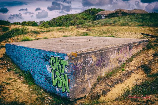 Batterie des Arros, mur de l'Atlantique, Soulac-sur-Mer. Samedi 3 juillet 2021. Photographie © Christian Coulais