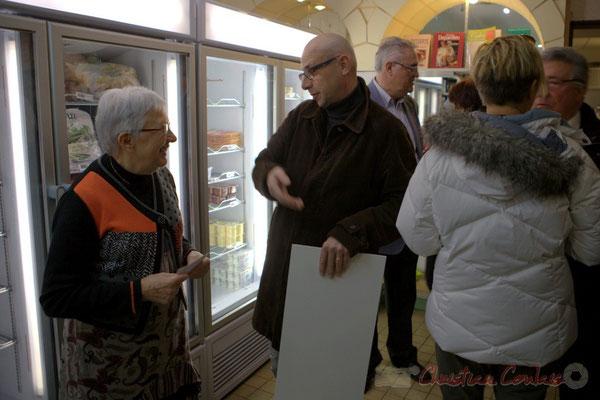 Suzette Grel, ex-présidente de l'Associaion la Cabane à Projets, Jean Samenayre, adjoint au Maire de Créon