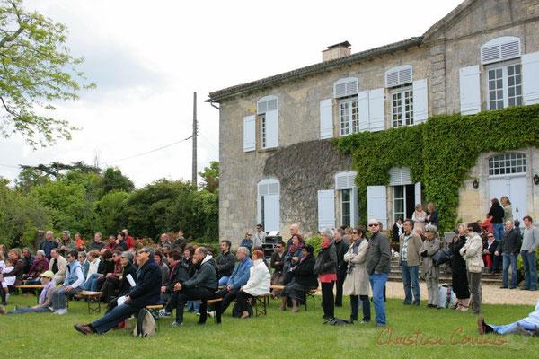 Le public est conquis par cette excellente composition. MovieJazzProject, Festival JAZZ360 2010, château Lestange, Quinsac, 16/05/2010