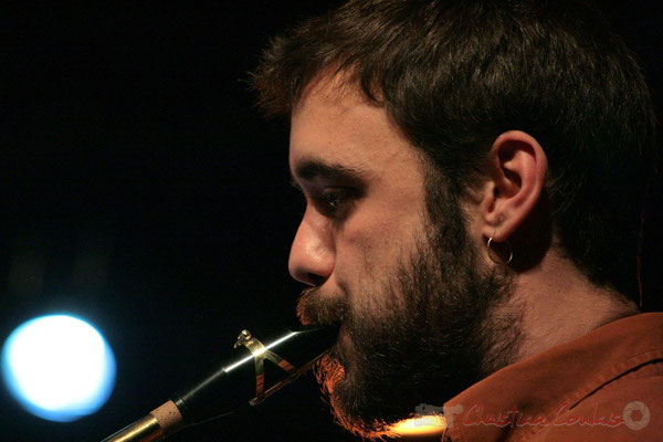 Saxophoniste baryton, Big Band du Conservatoire Jacques Thibaud, section MMA. Festival JAZZ360, Cénac. 03/06/2011