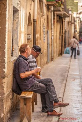 """""""Homme à la bière"""" Olite, Navarre / """"Hombre con cerveza"""" Olite, Navarra"""