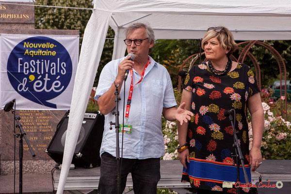 Richard Raducanu, Président de l'association JAZZ360 présente le programme de la soiré concert avec Louis Sclavis. 08/06/2018