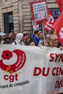 La CGT Santé et Action sociale, l'esprit de conquête. Manifestation contre la réforme du code du travail. Place Gambetta, Bordeaux, 12/09/2017