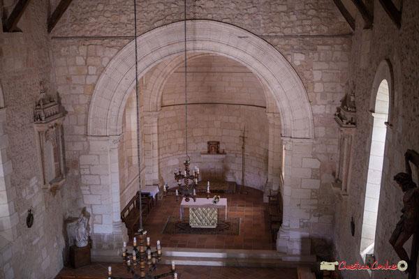 Nef et abside. Eglise Saint-André, Cénac. 11/05/2018
