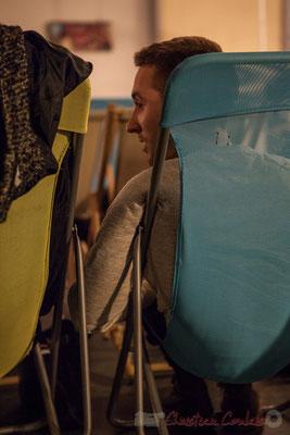 Jordan Cauvin (re) découvre des morceaux paternels écrits depuis 1978. Le Rocher de Palmer, 12/12/2015. Reproduction interdite - Tous droits réservés © Christian Coulais