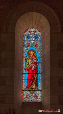 Vitrail nord Saint-Joseph, don de Mr Gustave Samazeuilh, 1876. Eglise Saint-André, Cénac. 11/05/2018