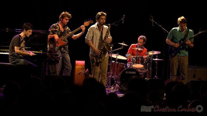 Philippe Gueguen, Philippe Siffre, Paul Robert, Curtis Efoua, Mathias Monseigne; Edmond Bilal Band, Festival JAZZ360 2013, Cénac. 07/06/2013