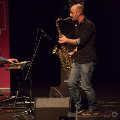3 Edouard Lhoumeau du trio King Kong III. Tremplin Action Jazz 2017. Le Rocher de Palmer, Cenon