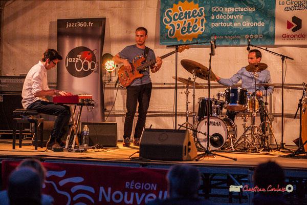 Adrien Brandéis, Romann Dauneau, Félix Joveniaux; Adrien Brandéis Quintet, Festival JAZZ360 2019, Langoiran. 06/06/2019