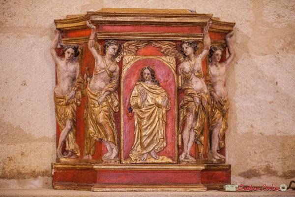 Tabernacle baroque polychrome. Eglise Saint-André, Cénac. 28/04/2018
