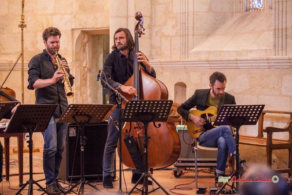 Maxime Berton, François Poitou, Federico Casagrande; François Poitou Quintet. Festival JAZZ360 2019, Cénac. 07/06/2019