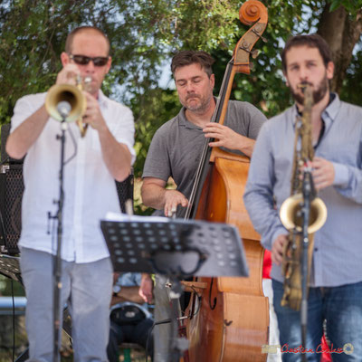 Jérôme Dubois, Jérôme Armandie, Paul Robert, Quintet On Lee Way, Festival JAZZ360, Quinsac, 11/06/2017