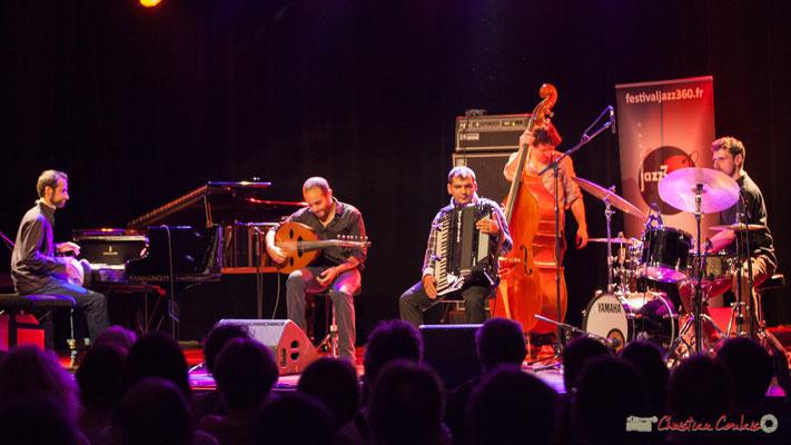Eym Trio; Elie Dufour, piano; Mohamed Abozekry, oud;  Marian Badoï, accordéon; Yann Phayphet, contrebasse; Marc Michel, batterie. Festival JAZZ360, 09/06/2017