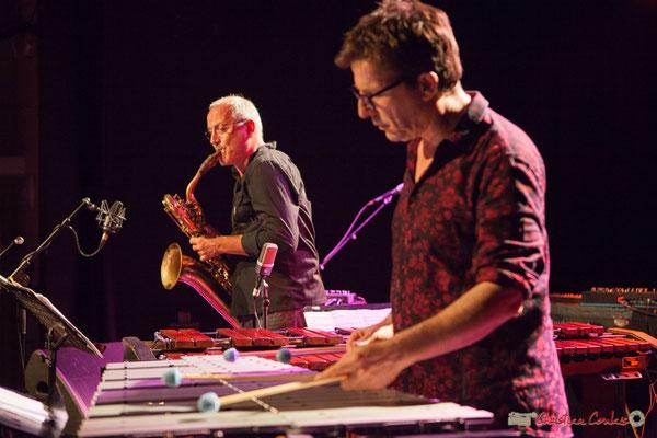 François Corneloup; Franc Tortiller / François Corneloup Duo. Festival JAZZ360, Cénac, 10 juin 2017