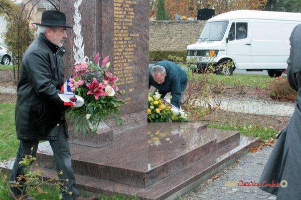 Hommages et commémoration de l'Armistice du 11 novembre 1918 à Cénac, ce jeudi 11 novembre 2010.